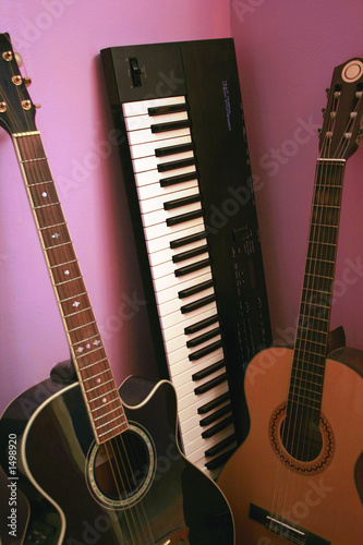 guitars and synthesizer keyboard