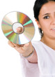 compact disc - woman