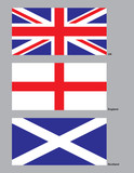 united kingdom flags poster