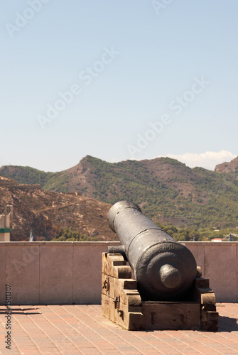 gun in the city castle  of cartagena