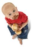 vdolky dítě jíst