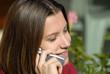 jeune femme et téléphone...