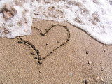 heart on sand poster