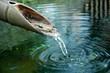 Leinwandbild Motiv bamboo fountain