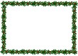 Leinwandbild Motiv holly border
