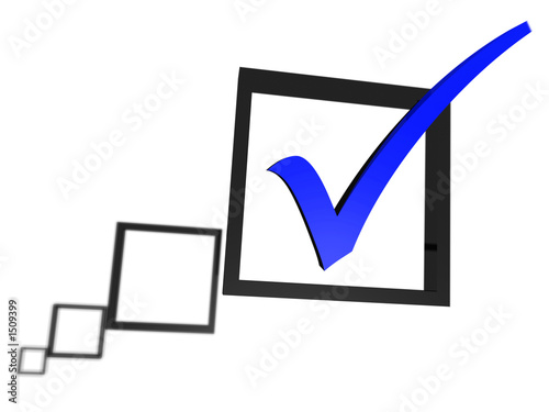 blue tick in a check box list