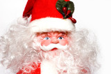 santa toy isolated on white background poster