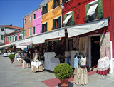 typical shop in burano poster