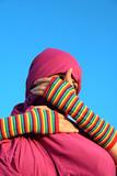 muslim woman - blind eyes poster