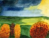 autumnal landscape poster