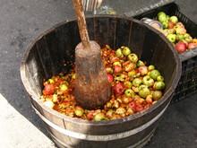 Machacando manzanas