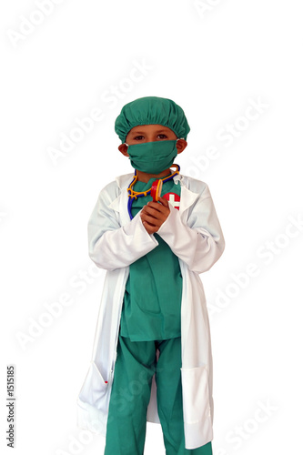 poster of surgeon with mask