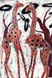 girafes sur batik