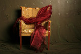 gift wrapped dramatic chair poster