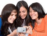 girls sharing their photos poster