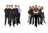 business teams divided by men and women poster