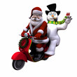 santa and snowman 1 - isolated