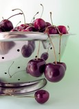 deep-red sweet-cherries poster