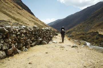 hiking in the cordilleras,peru