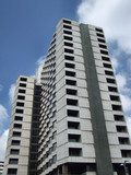 high rise modern building poster