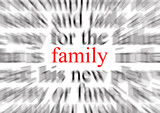 focus on family poster
