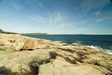 pink granite cliffs in acadia national park maine poster