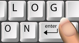 log-on keyboard keys poster