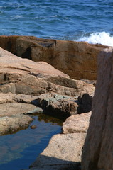 pink granite and high surf