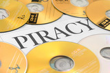 cd and word of piracy poster