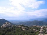 vue sur la plaine de figari poster