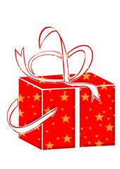 geschenk in weihnachtspapier