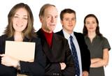 female entrepreneur and her business team poster