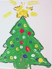 child's christmas tree