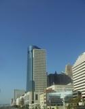 city blue sky view poster