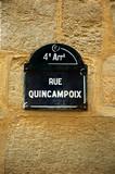 france, paris: famous quincampoix street in marais district poster