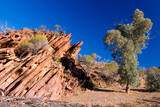 rock formation in wilkawillina gorge poster