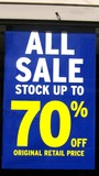sale 70% off sign. all sale sign. free.cheap price poster