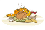thanksgiving turkey-(color) poster