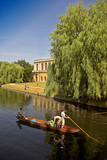 the famous pond at cambridge university poster