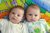 two baby boys twin brothers poster