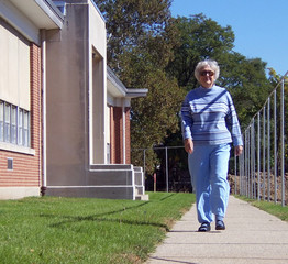 elderly lady walking