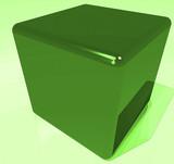 cube 3d vert poster