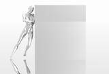 platinum girl pushing wall poster