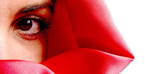 túnica roja