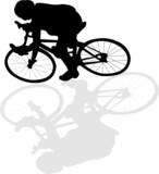 biker silhouette poster