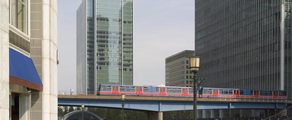 canary wharf docklands london light railway englan