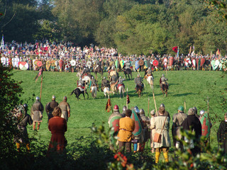 battle of hastings charge of norman cavalry
