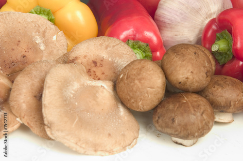 shiitake and brown cap mushrooms