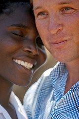 portrait interracial couple
