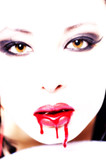 sexy asian vampire with blood poster